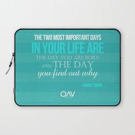 LIFE QUOTE - Mark Twain Laptop Sleeve