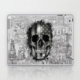 usa black and white skull Laptop & iPad Skin