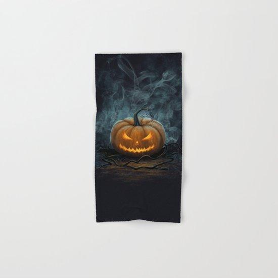 Halloween Pumpkin Hand & Bath Towel