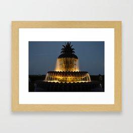 fountain lights Framed Art Print