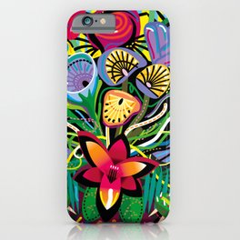 Jungle Foliage iPhone Case