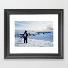 Morning view on Mt Doom Framed Art Print
