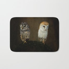 Barn And Tawny Owl Bath Mat