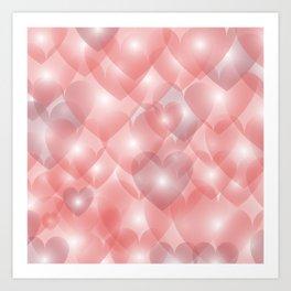 Hearts Aglow Art Print