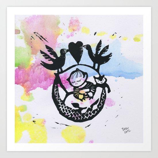 Welcome Baby 2 Art Print