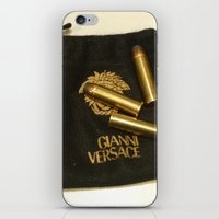 versace iPhone & iPod Skins featuring Versace Bullets Colt by Premium