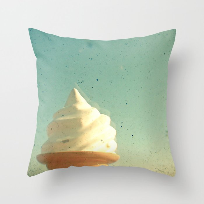 Ice Cream Throw Pillow by cassiabeck Society6