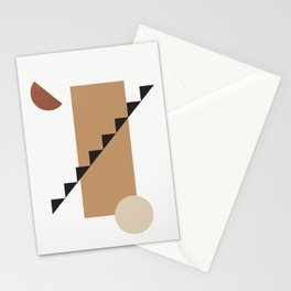 BALCONE ALLA LUNU - Moon at the balcony - Modern abstract art illustration Stationery Cards