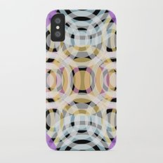Wave Pattern 4, Black iPhone X Slim Case