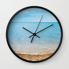 sea sand beach 4 Wall Clock