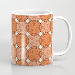 Red & Orange Circles Coffee Mug