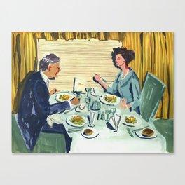 Dinner on the Train Canvas Print