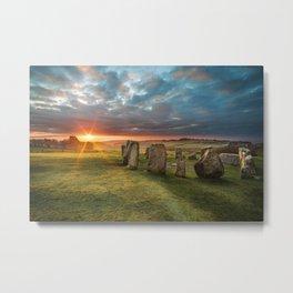 Drombeg Stone Circle Metal Print