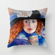 Artist Abroad Throw Pillow