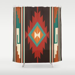 American Native Pattern No. 32 Shower Curtain