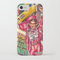 senna iPhone & iPod Cases featuring Ayrton Senna do Brasil by Renato Cunha