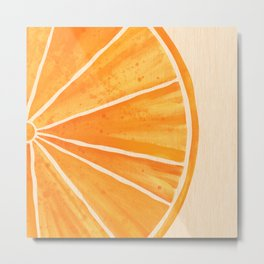 Orange You Happy Metal Print