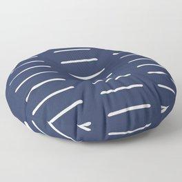 Mudcloth (Navy) Floor Pillow