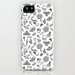 Modern Witch - White iPhone Case