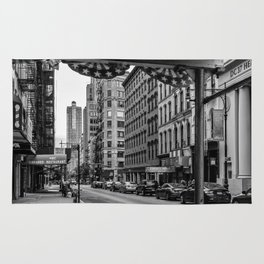 Early morning in TriBeCa of Lower Manhattan in New York City Rug