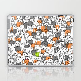 Bunny among cats Laptop & iPad Skin