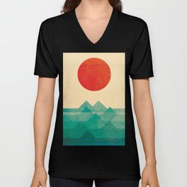 The ocean, the sea, the wave Unisex V-Neck