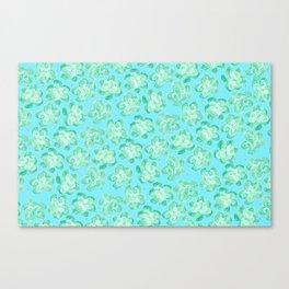 Wallflower - Tea Teal Canvas Print