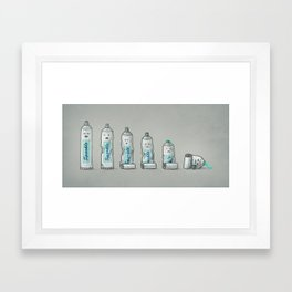 Life is like a tube of toothpaste Framed Art Print