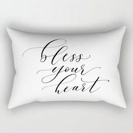 Bless your heart Rectangular Pillow