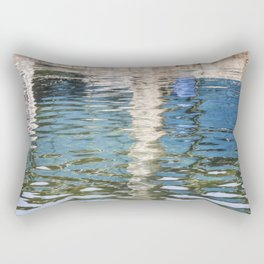 Reflecting Blues Rectangular Pillow