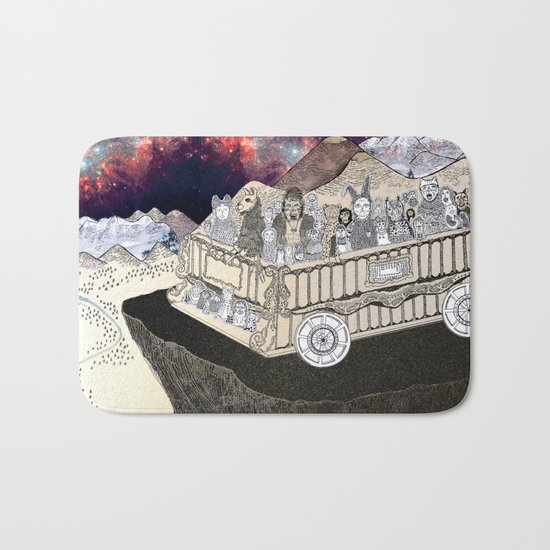 Animals on a Wagon Bath Mat