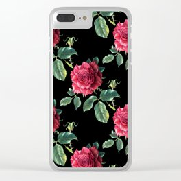 Pattern with roses 3 Clear iPhone Case