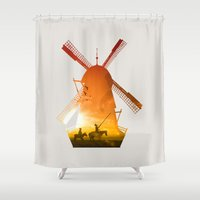 giants Shower Curtains featuring Fighting Giants (light version) by DV designstudio