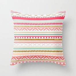 Aztec love Throw Pillow