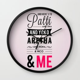 Midnight Rock and Rollers Wall Clock