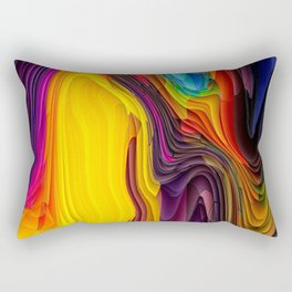 Melting Pot of Colors Abstract Rectangular Pillow