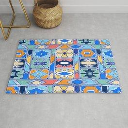 Colorful Ndebele Pattern Rug