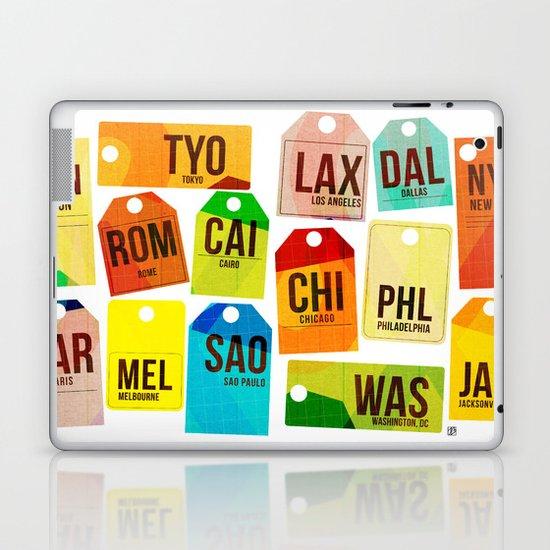 Travel Tags Laptop & iPad Skin