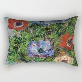 "Claude Monet ""Anemones"" Rectangular Pillow"