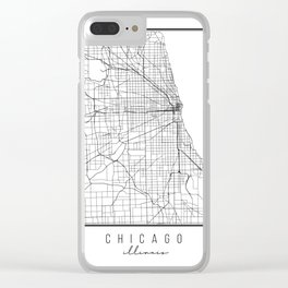Chicago Illinois Street Map Clear iPhone Case