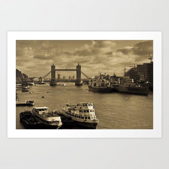 River Thames View Art Print