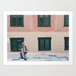 Busker Art Print