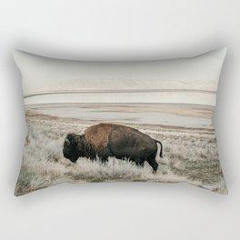 Bison of Antelope ISland Rectangular Pillow