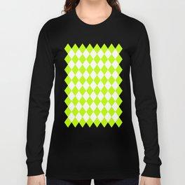 Diamonds (Lime/White) Long Sleeve T-shirt