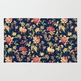 Shabby Floral Print Rug