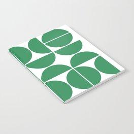 Mid Century Modern Geometric 04 Green Notebook