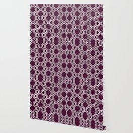 Hatchees (Burgundy Red) Wallpaper