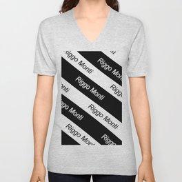 Riggo Monti Design #9 - Riggo Monti with Diagonal Stripes Unisex V-Neck
