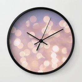 Light Pink Blurry Lights (Color) Wall Clock