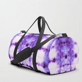 Violet Shibori Satin Duffle Bag